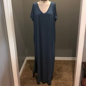 Teal colored, ankle length, Zenana maxi dress
